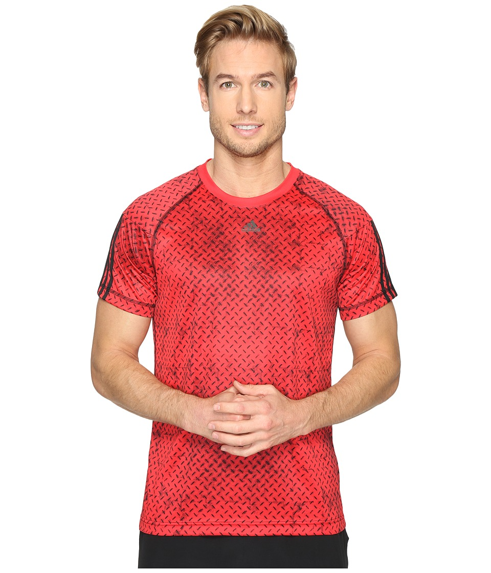adidas - Base 3S Tee (Ray Red) Men's T Shirt