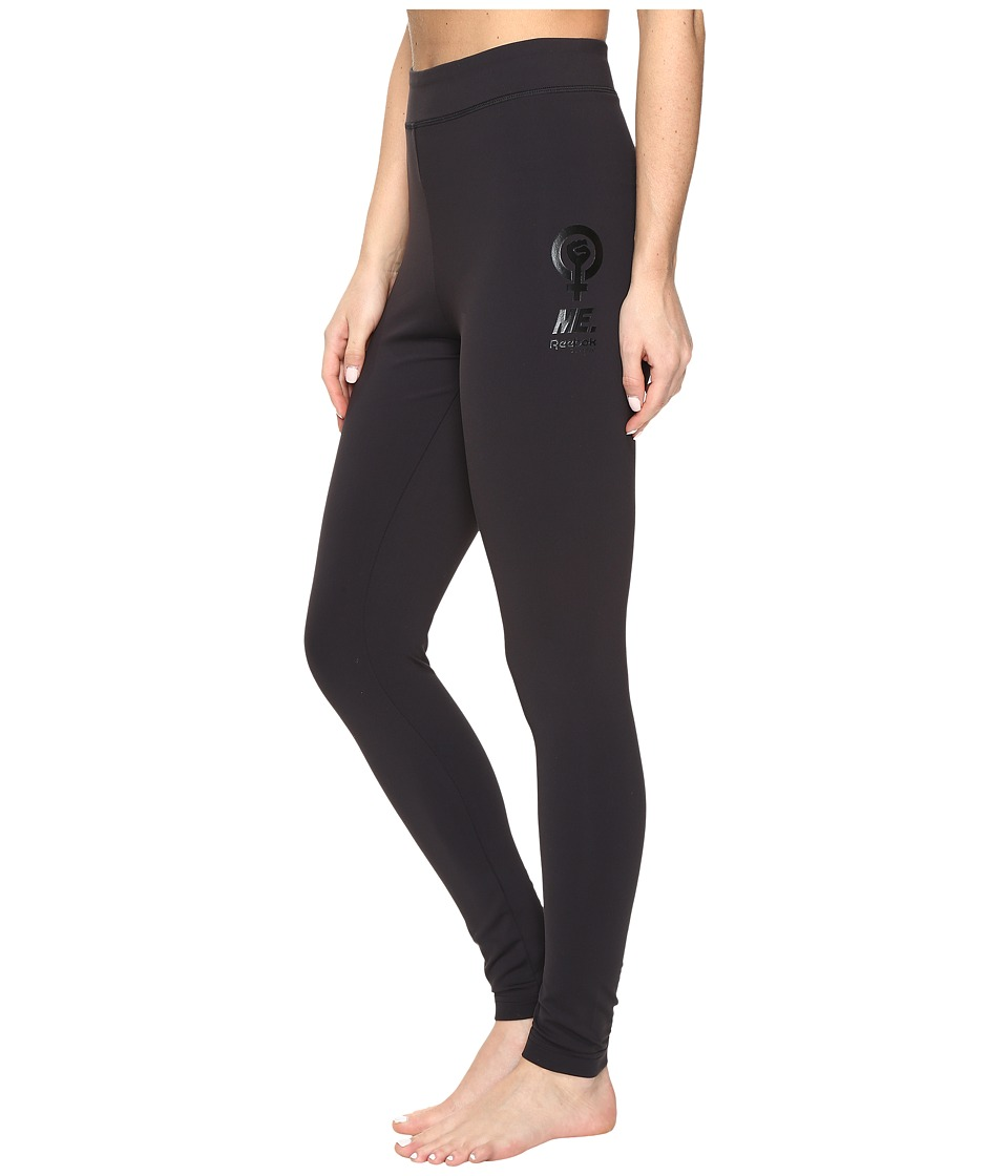 Reebok - Tonal Leggings (Black) Women's Casual Pants