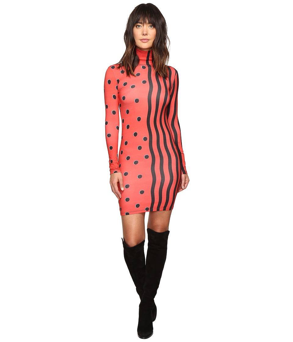 HOUSE OF HOLLAND - Jersey Swiggle Midi Dress (Red) Women's Dress