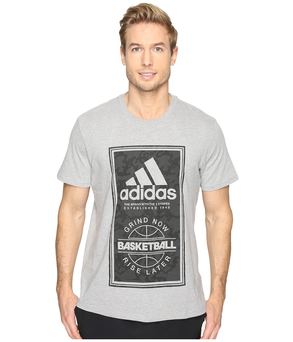adidas - Sport ID Basketball Tee (Medium Grey Heather) Men's T Shirt