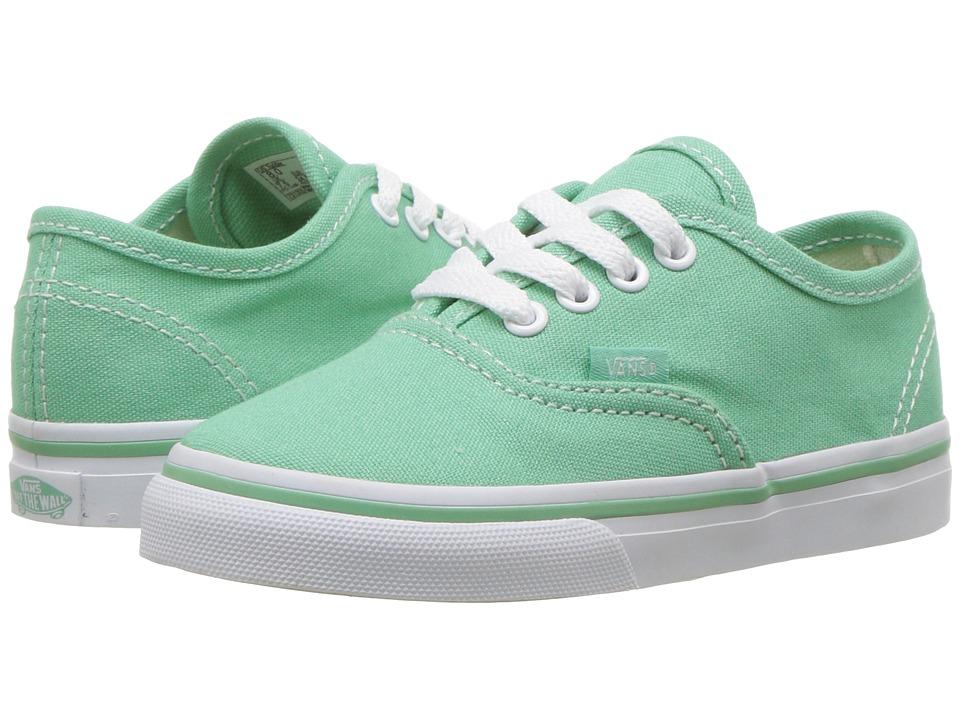 Vans Kids - Authentic (Toddler) ((Canvas) Neptune/True White) Girls Shoes