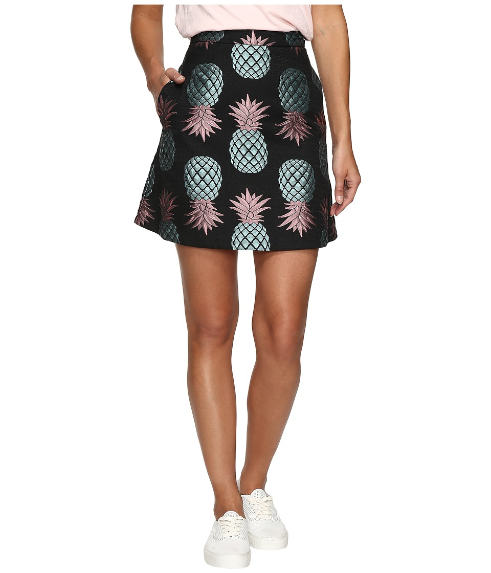 HOUSE OF HOLLAND - Pineapple Skater Skirt (Black) Women's Skirt