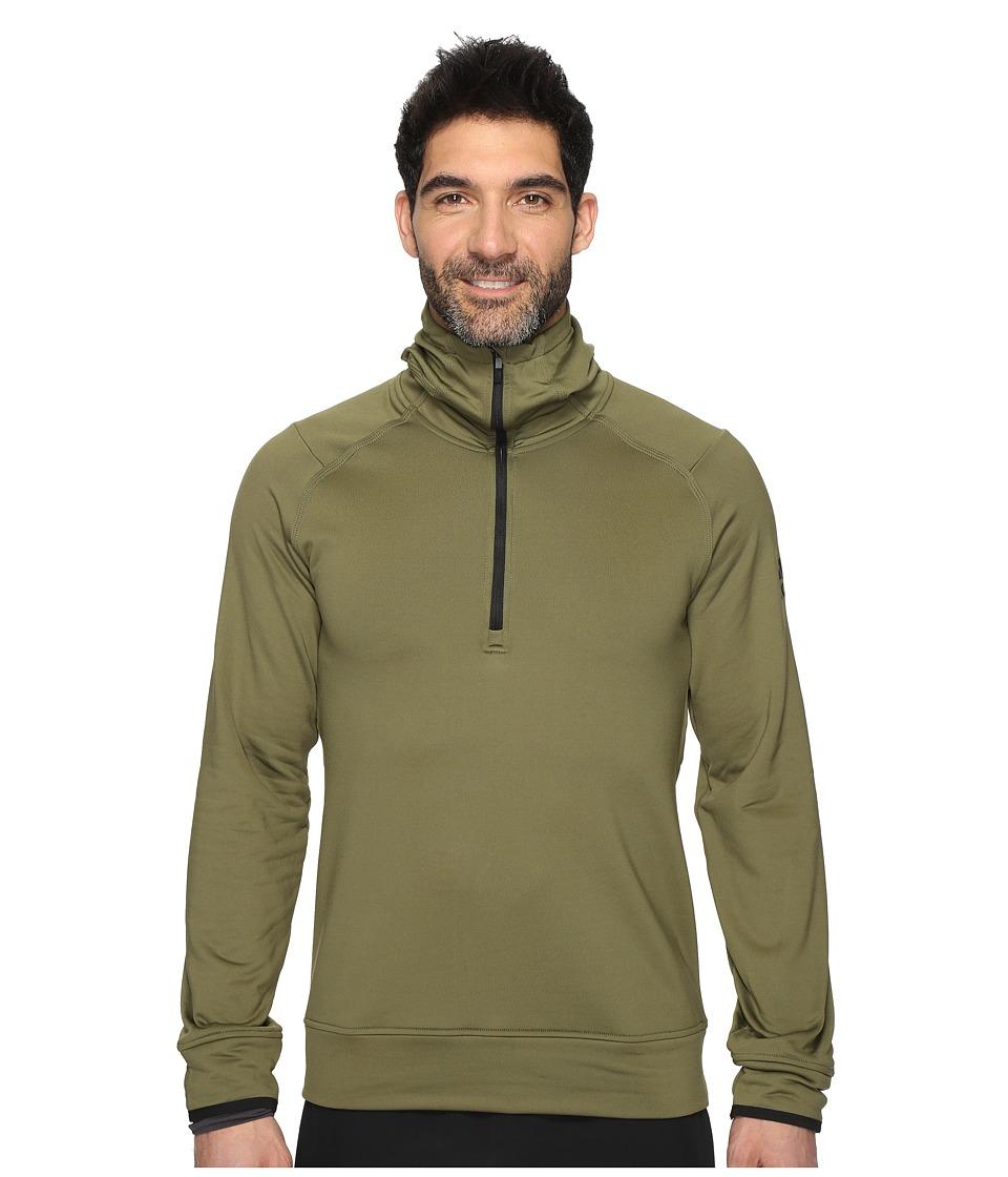 adidas - Climaheat 1/2 Zip Hoodie (Olive Cargo) Men's Sweatshirt