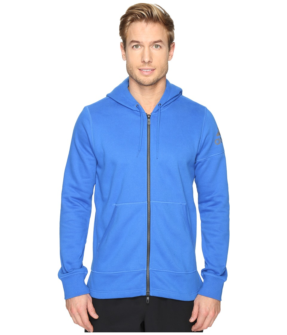 adidas - Postgame Full Zip Hoodie (Blue/Blue/Black) Men's Sweatshirt