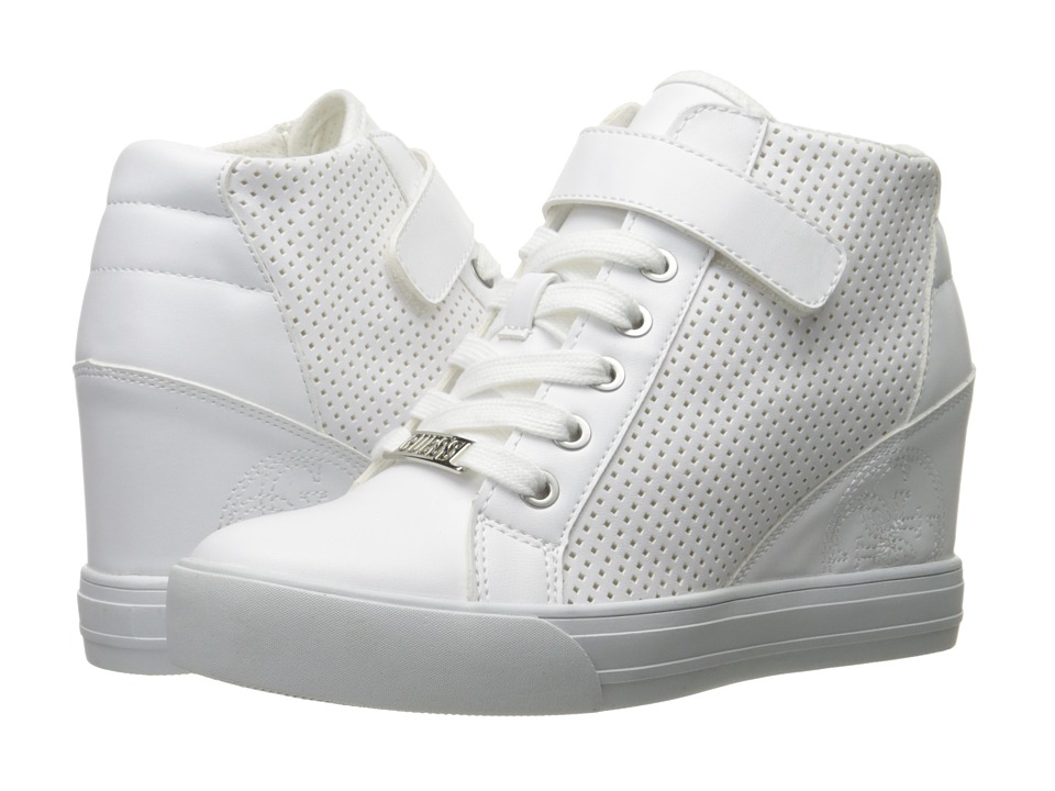 GUESS - Decia 2 (White) Women's Lace-up Boots