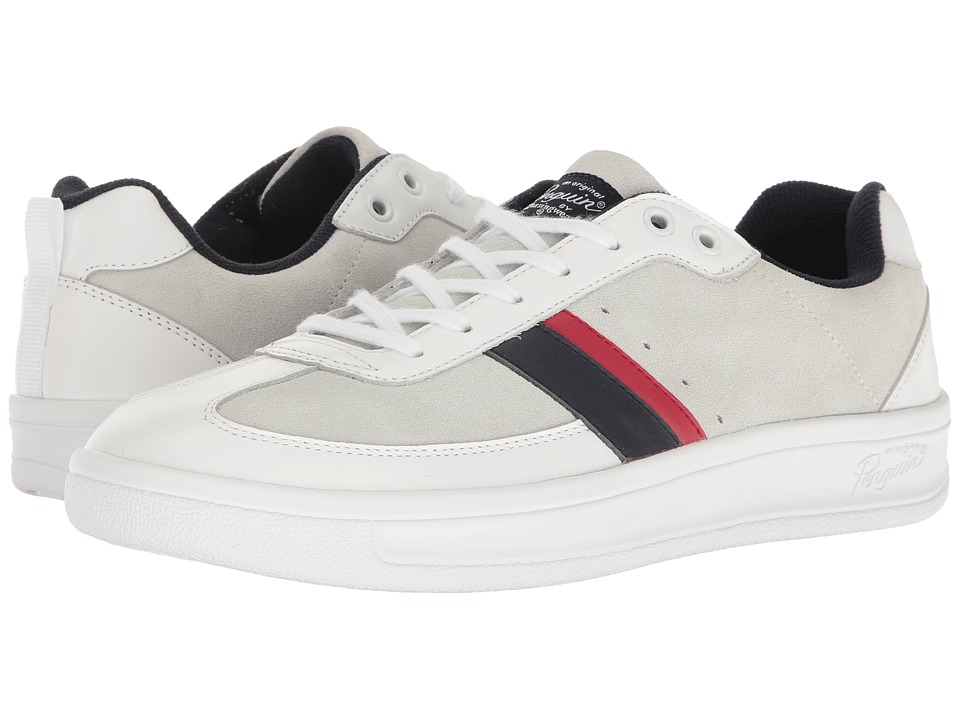 Original Penguin - Braiden (White/Navy/Red) Men's Lace up casual Shoes