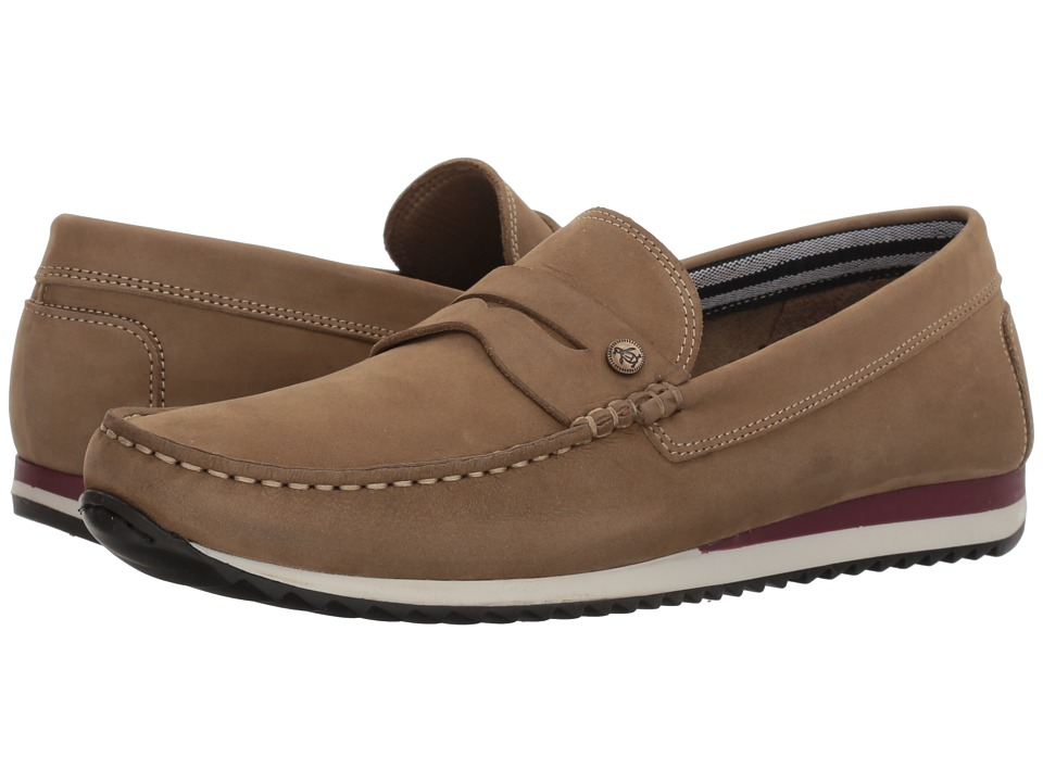 Original Penguin - Adrian (Sand/Red) Men's Slip on Shoes