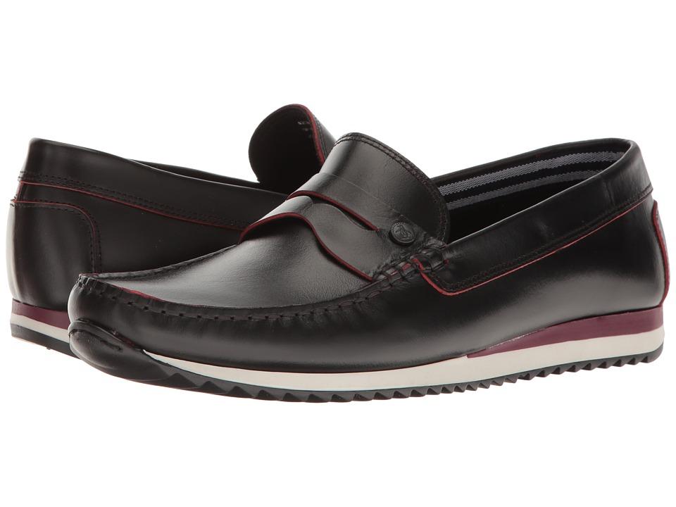 Original Penguin - Adrian (Black/Red) Men's Slip on Shoes