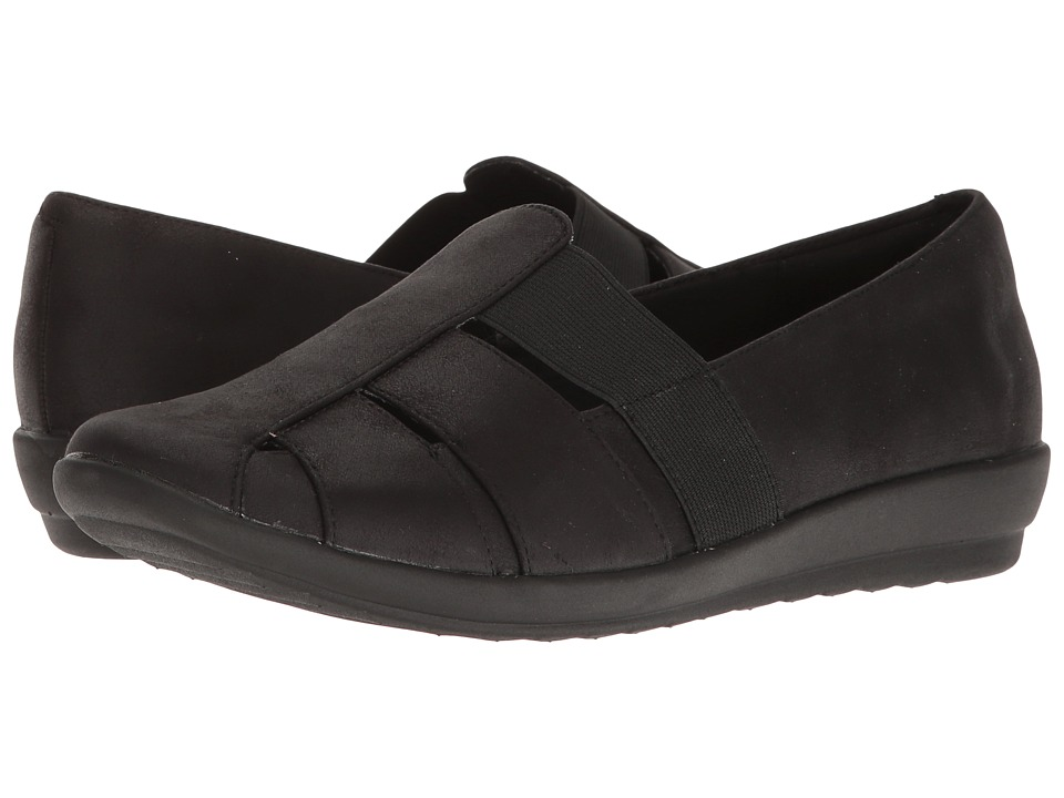 Easy Spirit - Alani (Black/Black Fabric) Women's Shoes