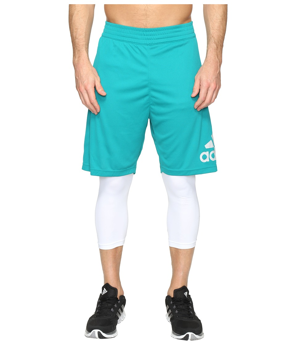 adidas - Crazylight Shorts (Green/White) Men's Shorts