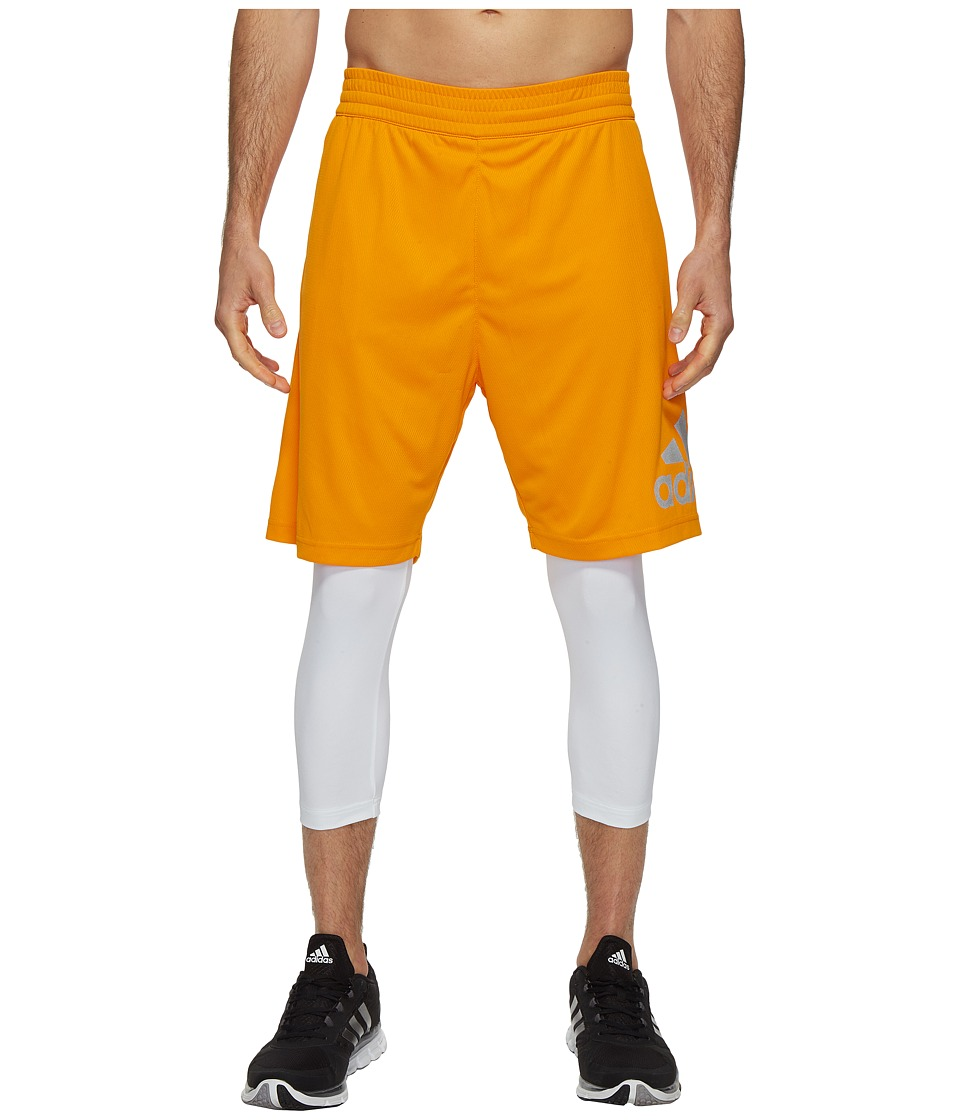 adidas - Crazylight Shorts (Orange/White) Men's Shorts
