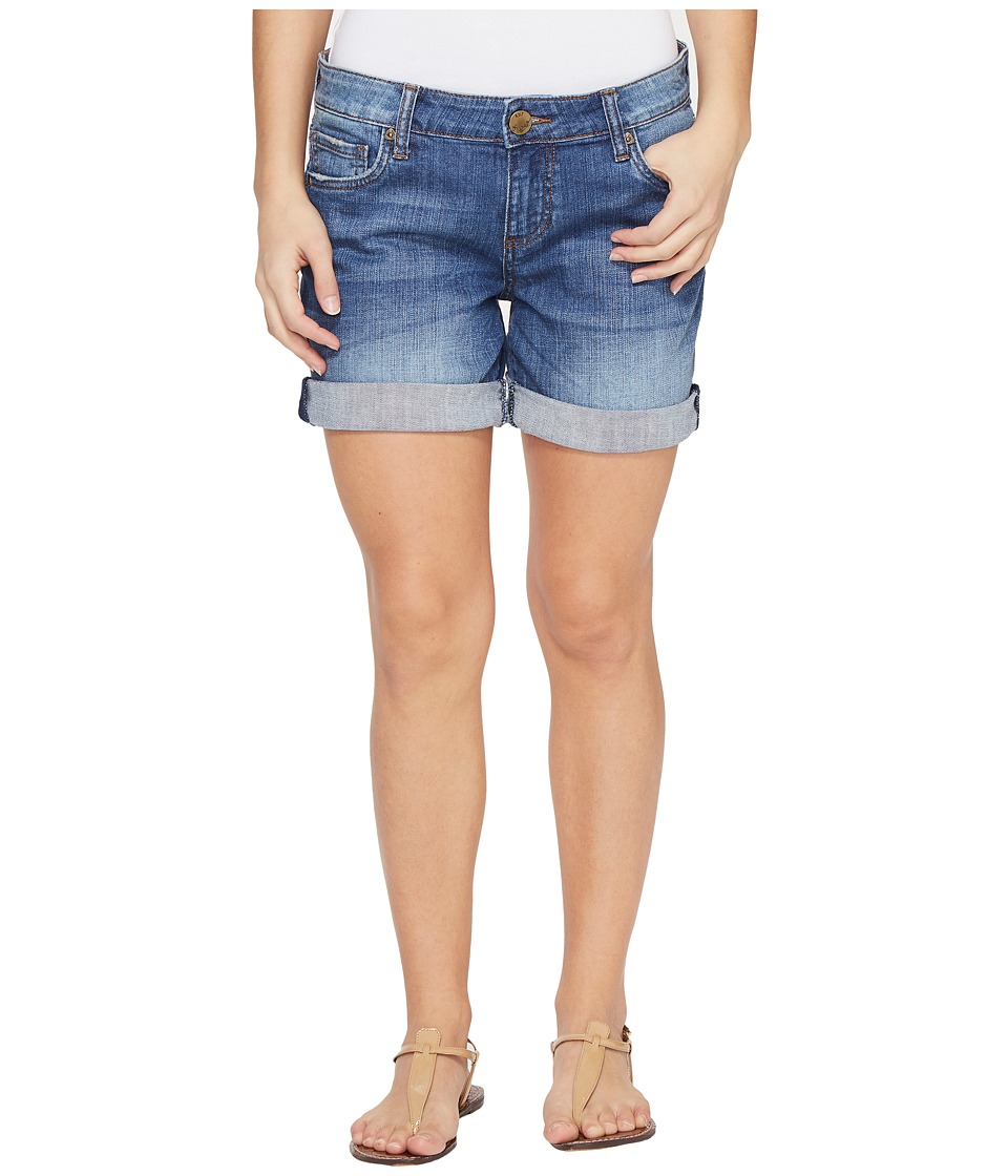 KUT from the Kloth - Petite Catherine Boyfriend Short in Feminine Wash (Feminine Wash) Women's Shorts