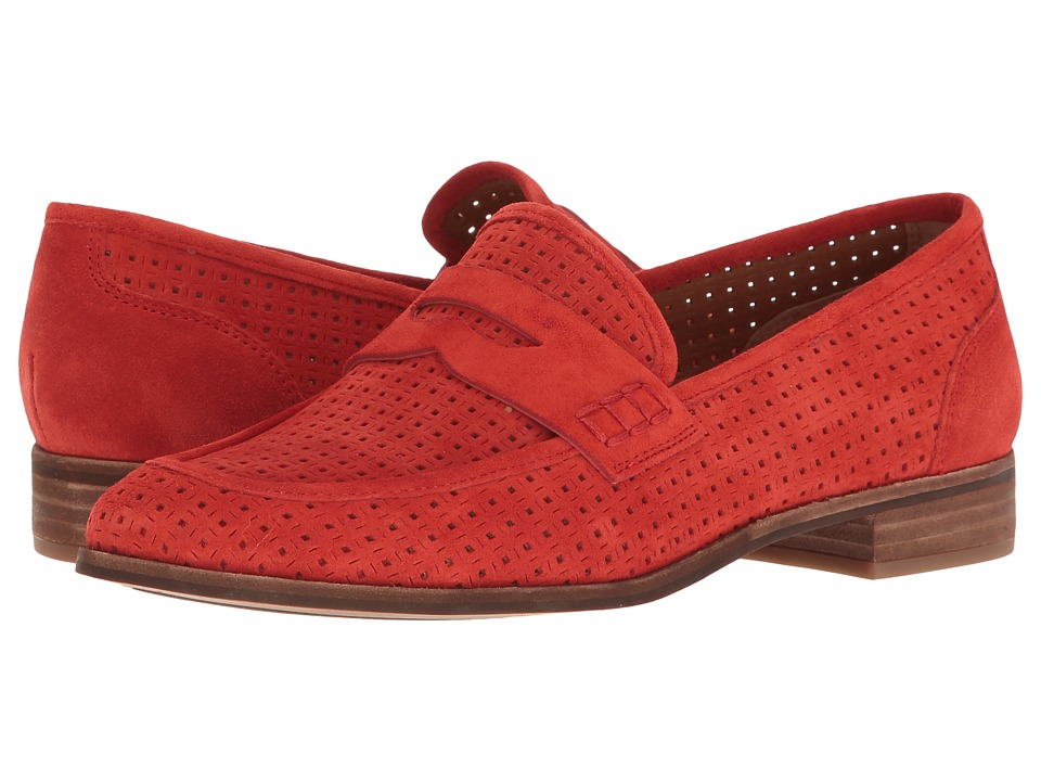 Franco Sarto - Jolette 5 (Pop Red Lux Brushed Suede) Women's Slip on Shoes