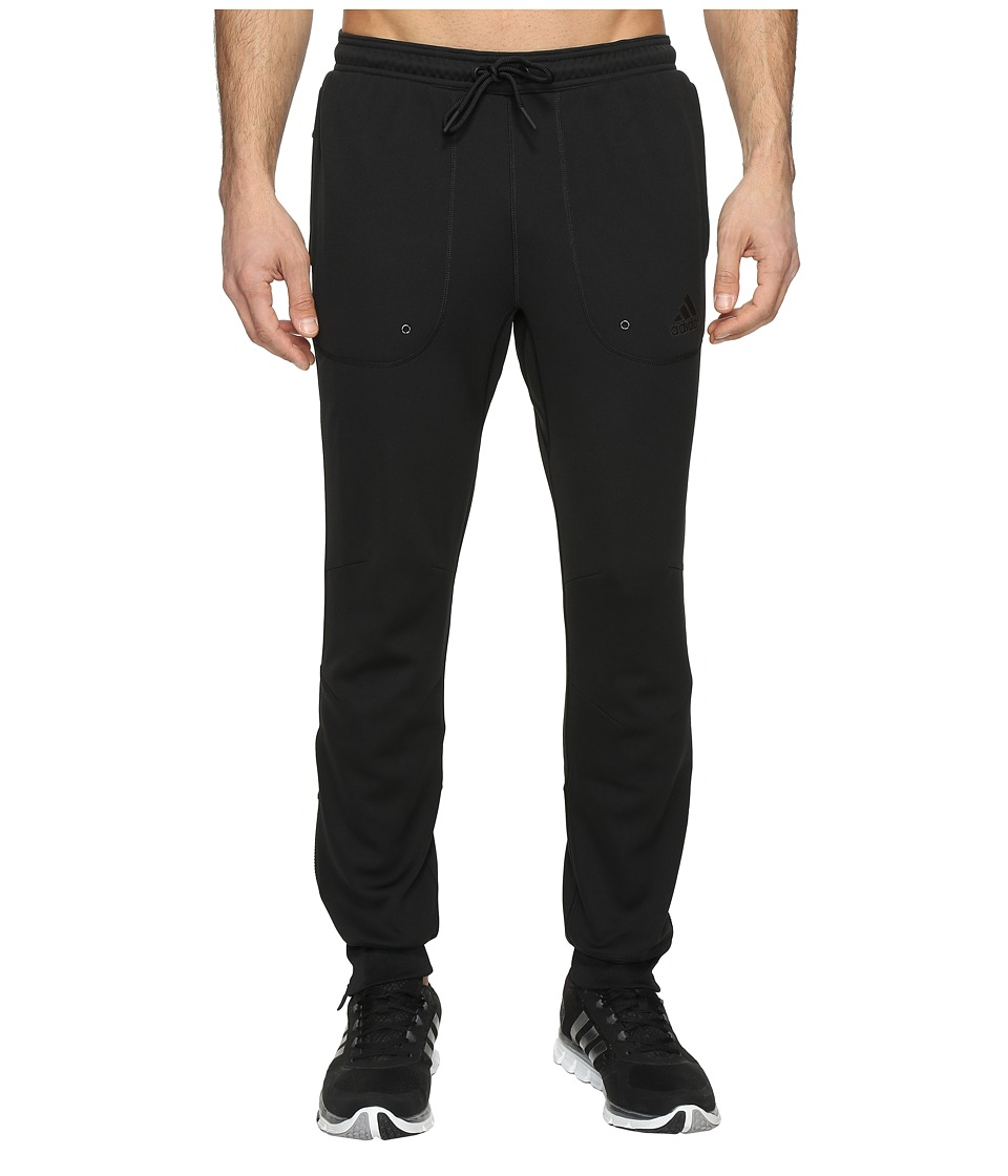 adidas - Sport ID Fleece Pants (Black/Black) Men's Casual Pants
