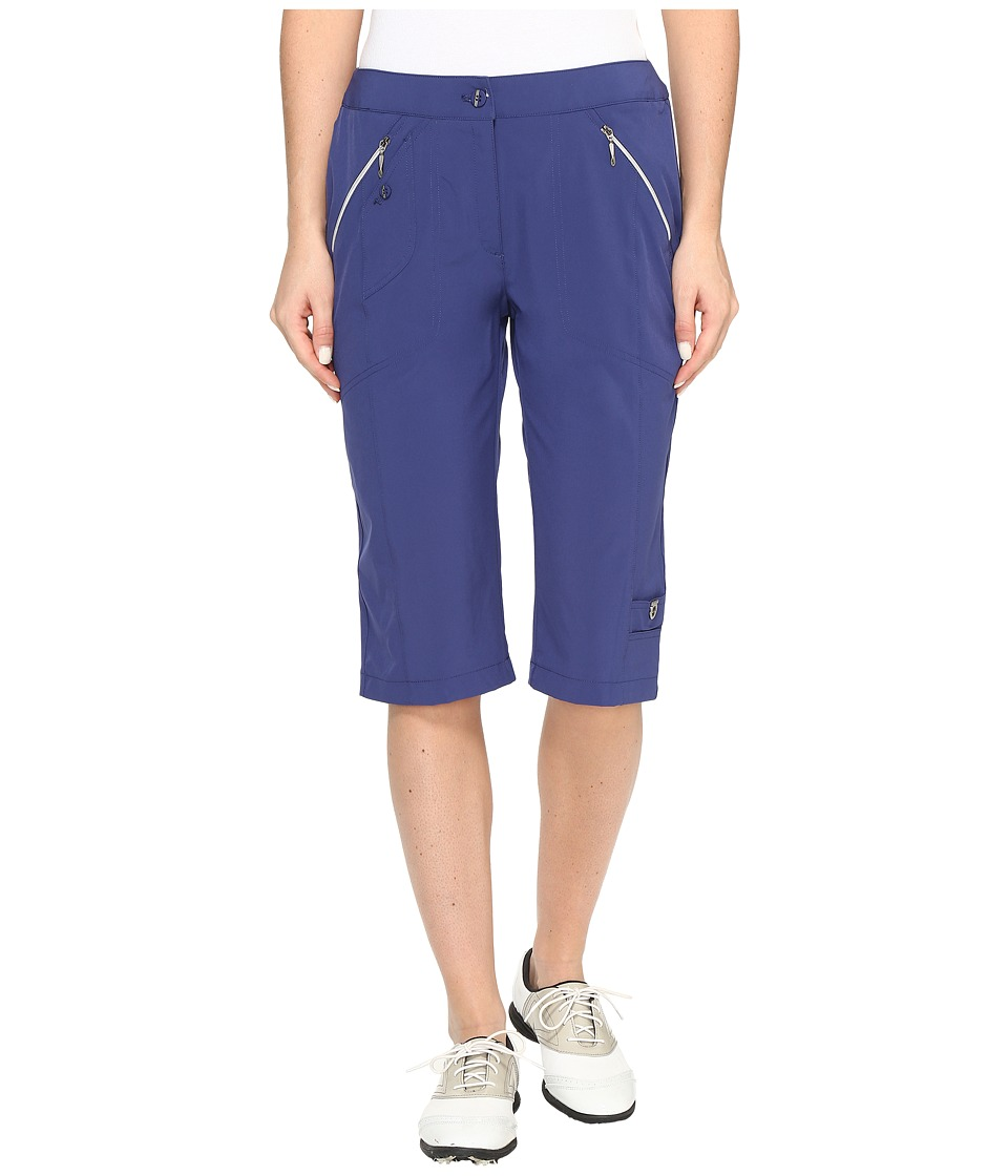 Jamie Sadock - Airwear Light Weight 24 in. Knee Capri (Terra Blue) Women's Capri