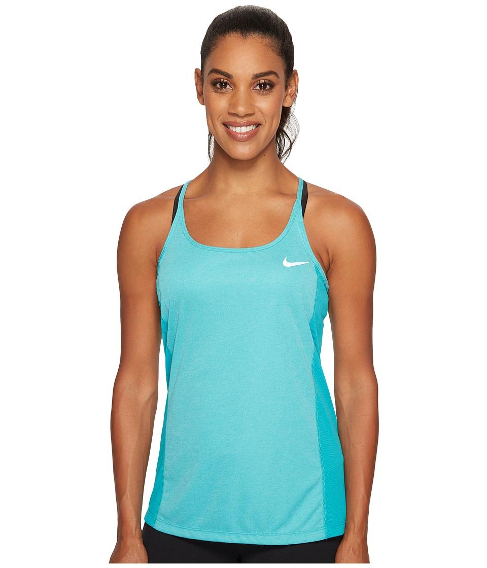 Nike - Dry Miler Running Tank (Turbo Green/Heather) Women's Clothing