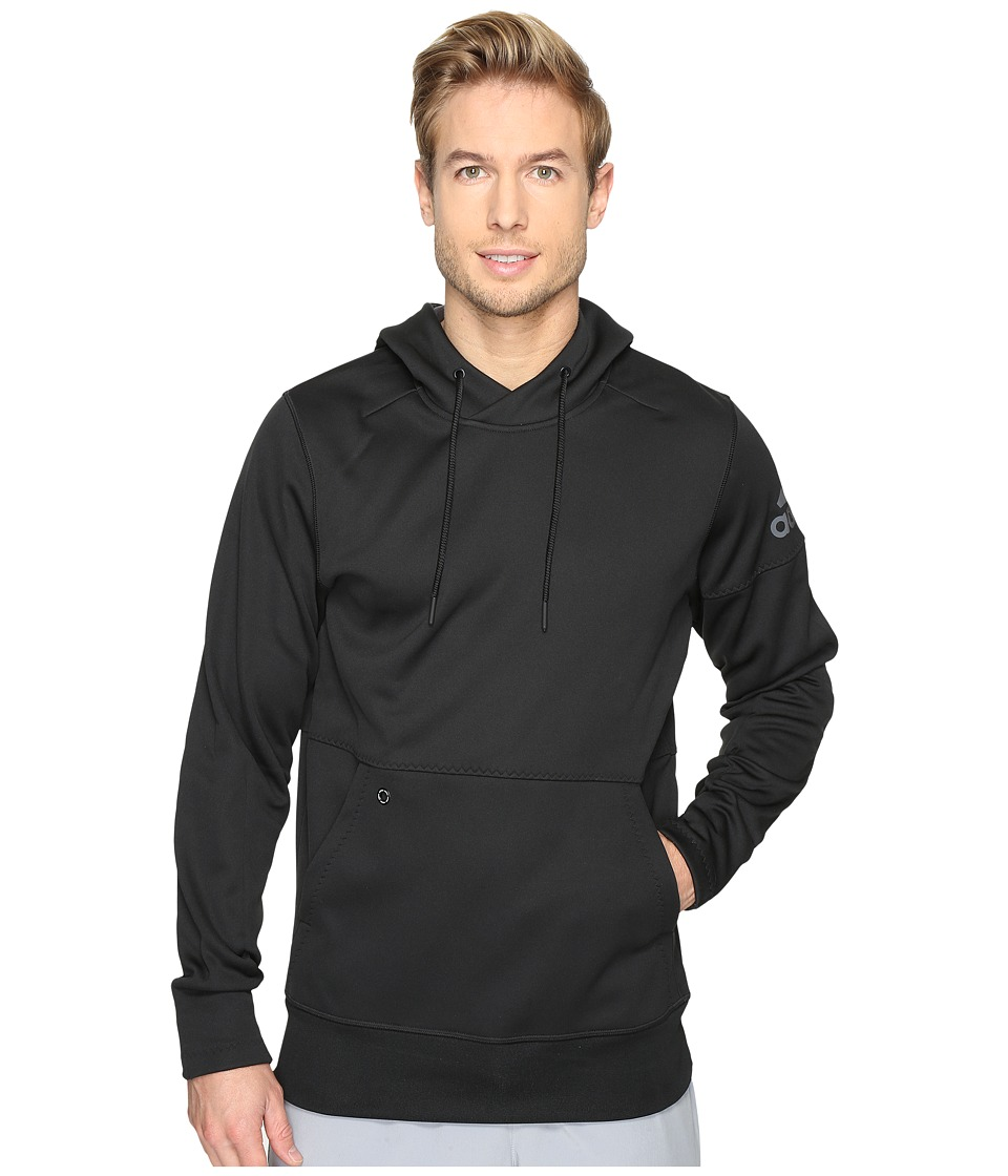 adidas - Sport ID Fleece Pullover (Black/Black) Men's Clothing