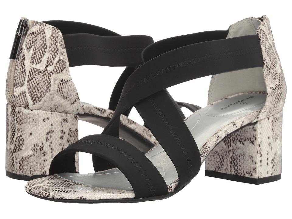 Bandolino - Sholto (Black/Black White Lycra/Smooth Python) Women's Shoes