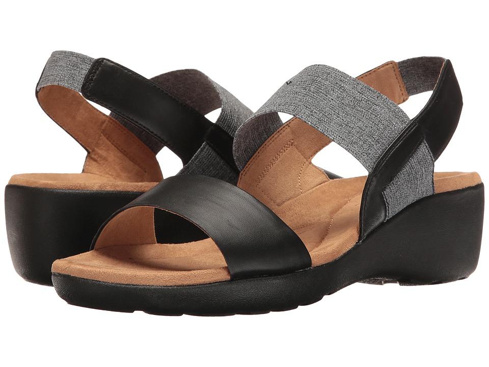 Easy Spirit - Kaffi (Black/Black Multi Leather) Women's Shoes