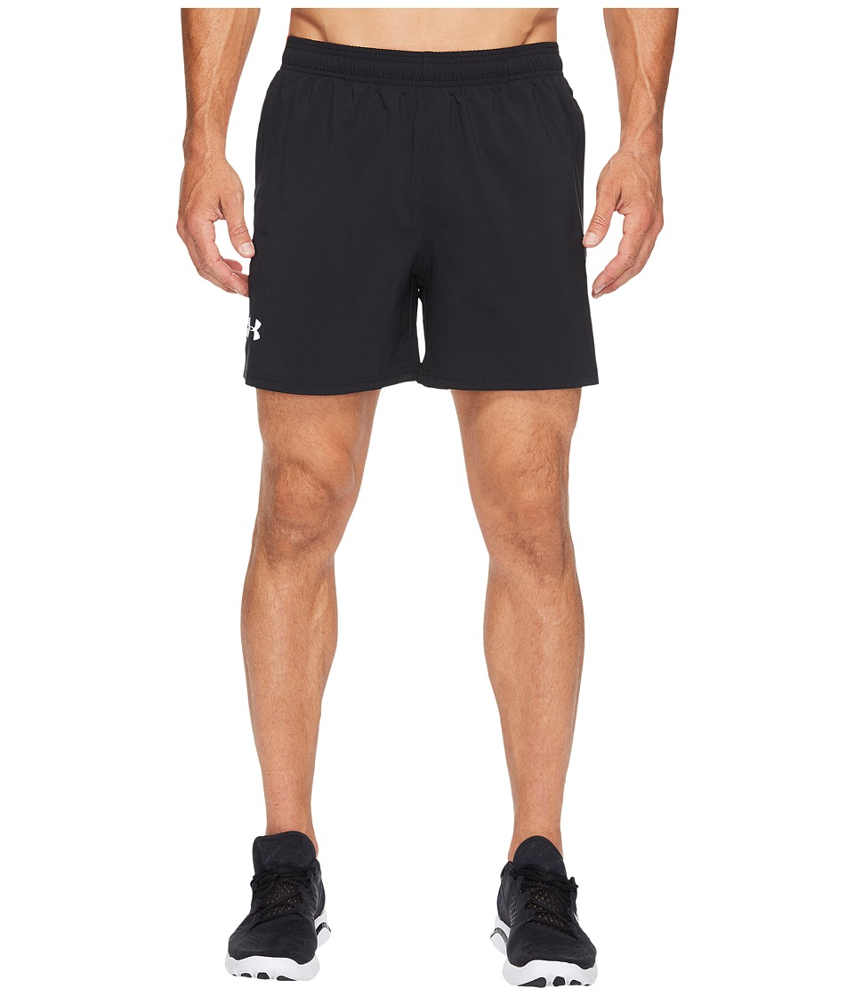 Under Armour - UA Launch Stretch Woven 5 Shorts (Black/Marathon Red/Reflective) Men's Shorts
