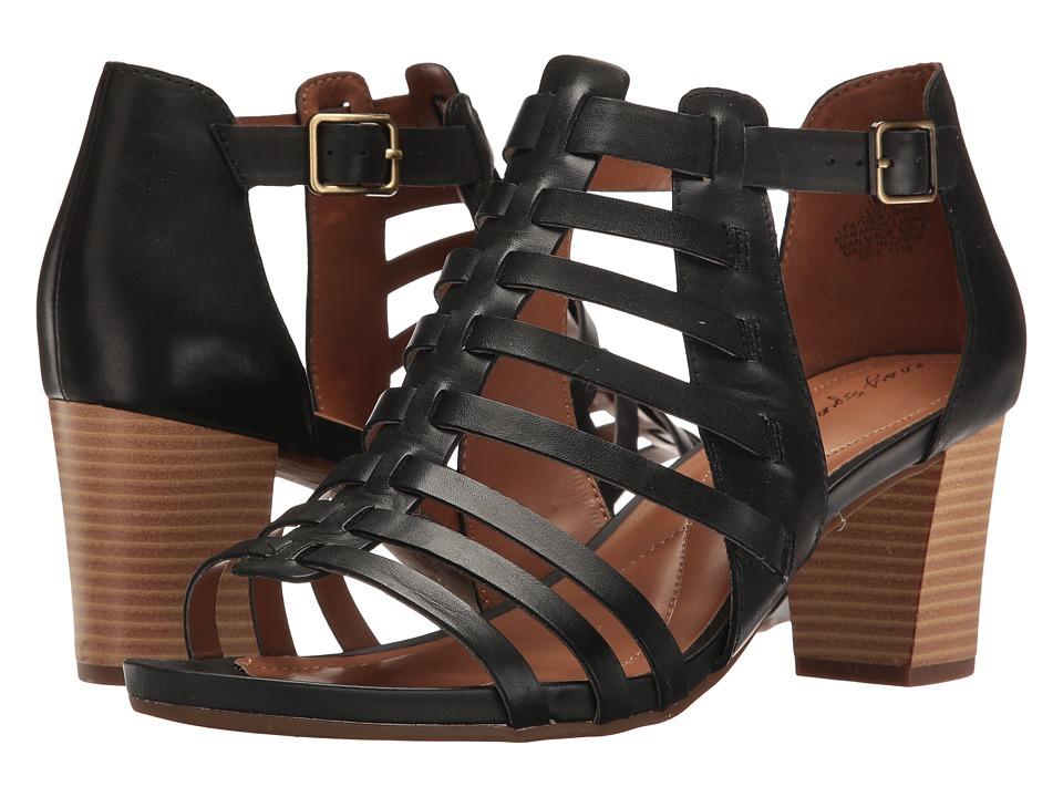 Easy Spirit - Leotie (Black Leather) Women's Shoes
