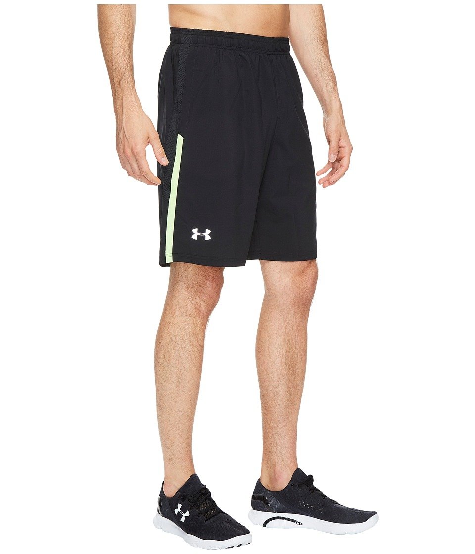 Under Armour - UA Launch Stretch Woven 9 Shorts (Black/Blue Marker) Men's Shorts