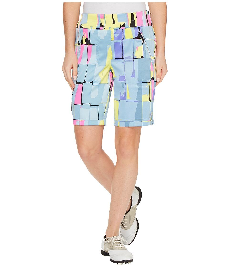 Jamie Sadock - Skinnylicious Digi Box Print 19 Shorts (Angelic) Women's Shorts