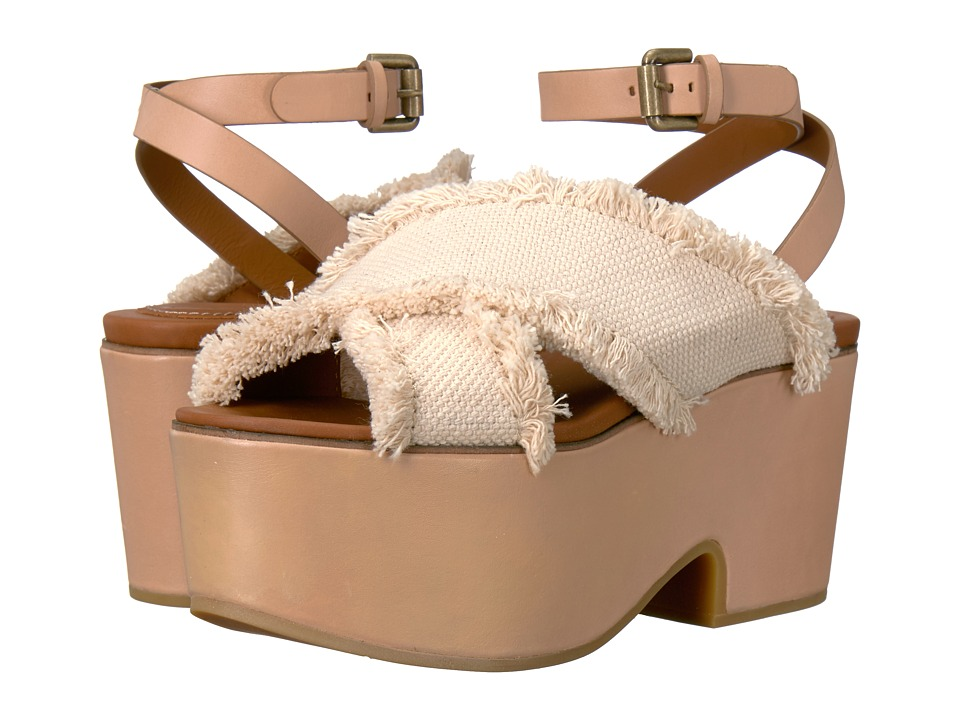 See by Chloe SB28092 Latte-Vegetal Tan Big Canvas Sandals