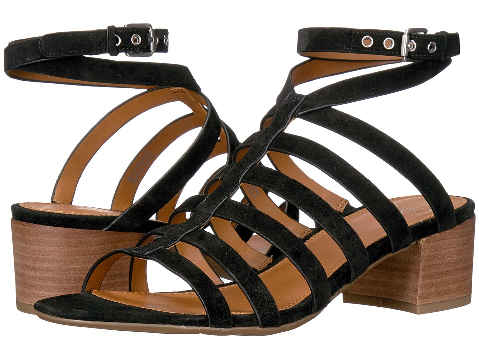 Franco Sarto - Finesse (Black Lux Brushed Suede) Women's Sandals