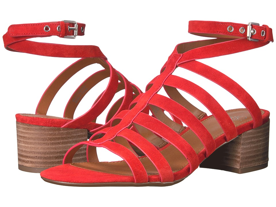 Franco Sarto - Finesse (Pop Red Lux Brushed Suede) Women's Sandals