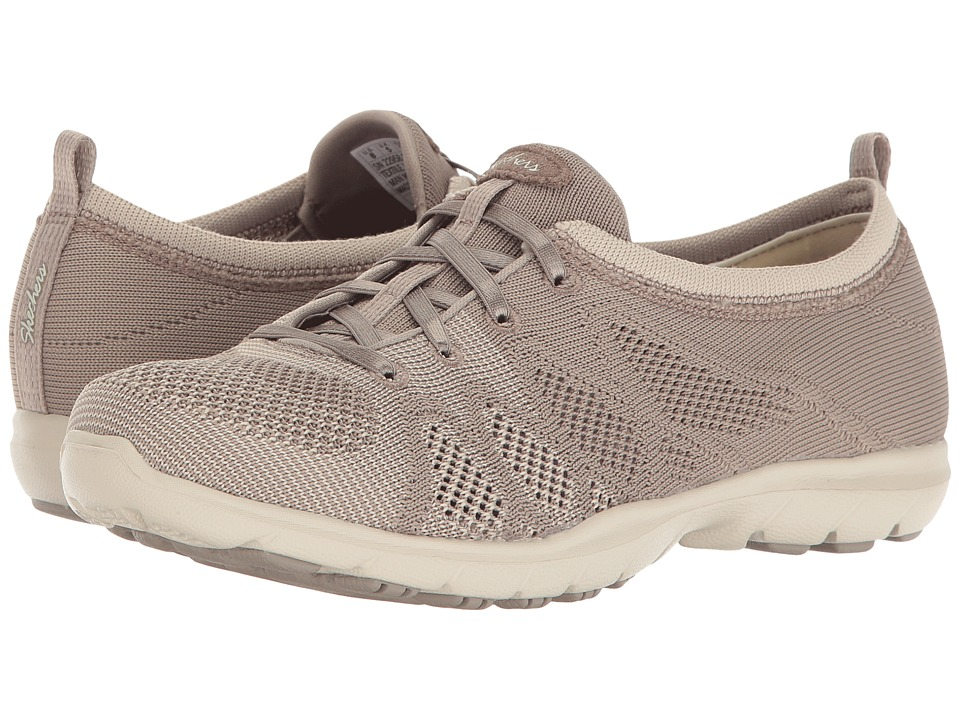 SKECHERS - Dreamstep - Esteem (Taupe/Natural) Women's Lace up casual Shoes