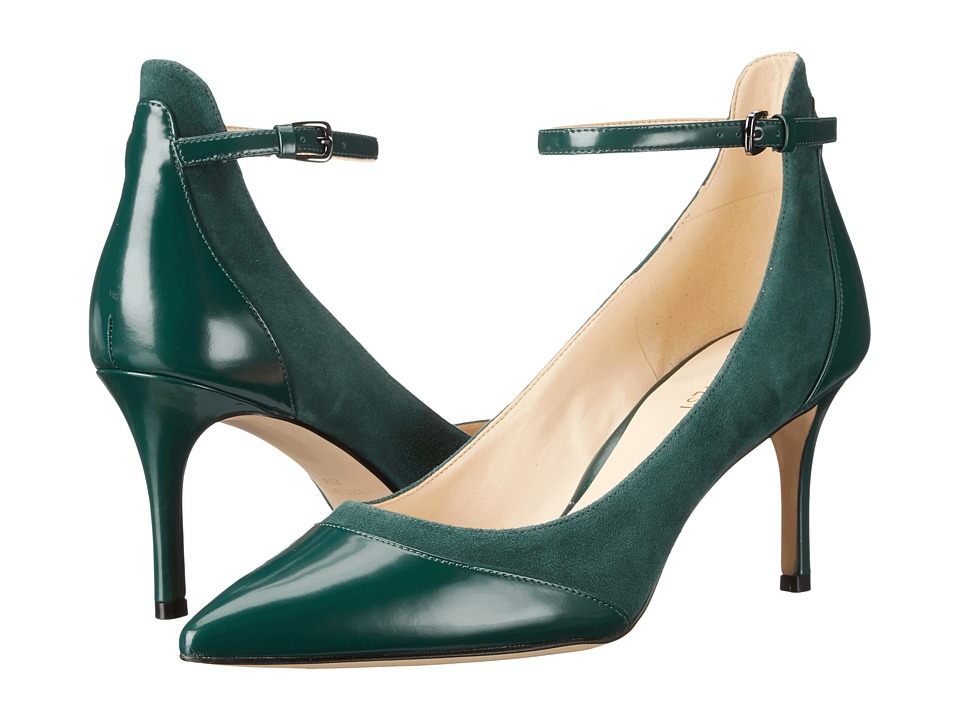 Nine West - Morrisa (Dark Green/Dark Green Suede) Women's Shoes