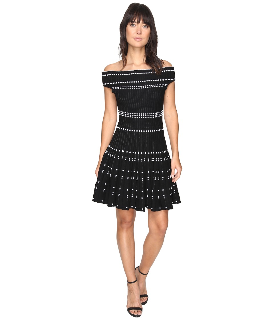 Adelyn Rae Bella Sweater Dress (Black/White) Women