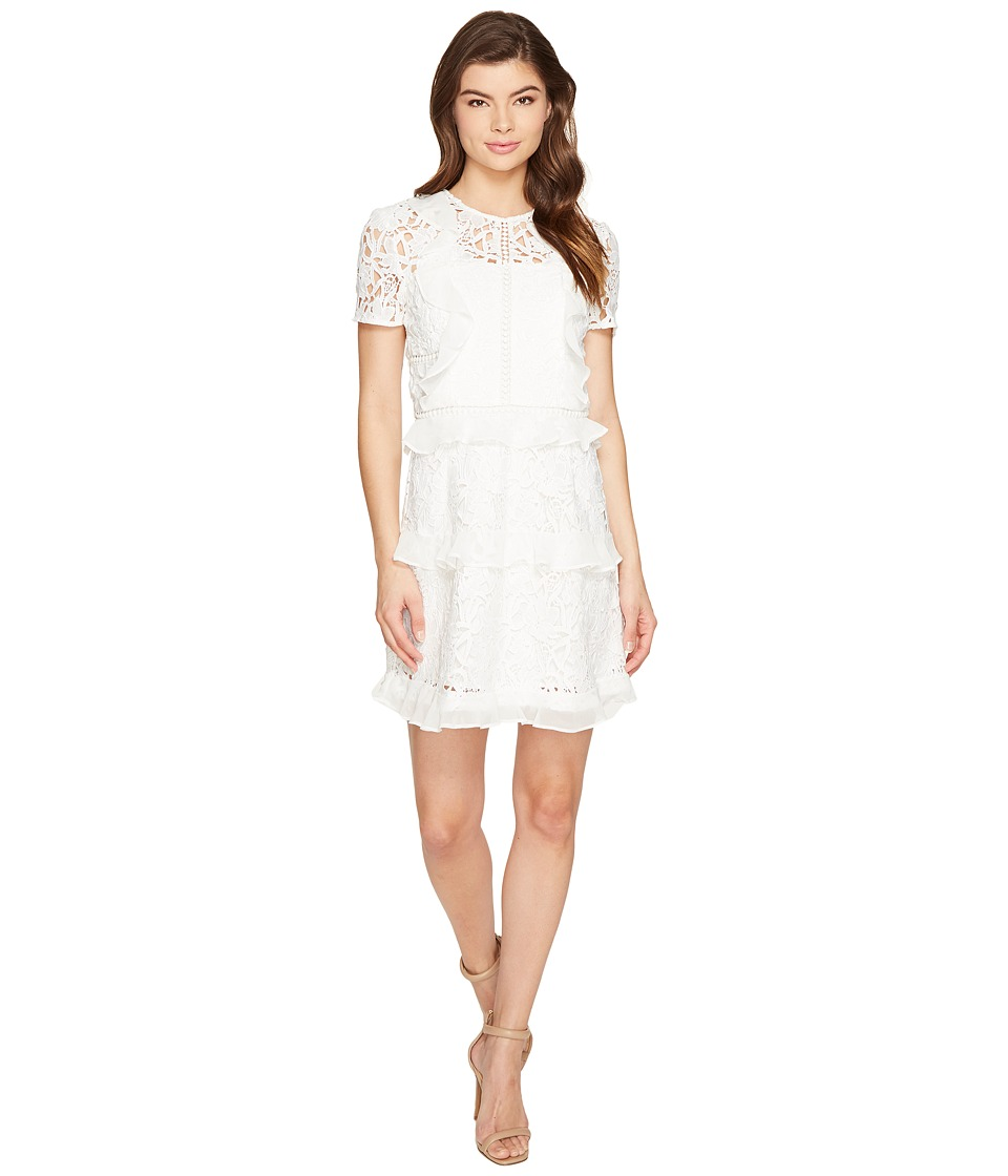 Adelyn Rae Sabina Fit and Flare Dress (White) Women