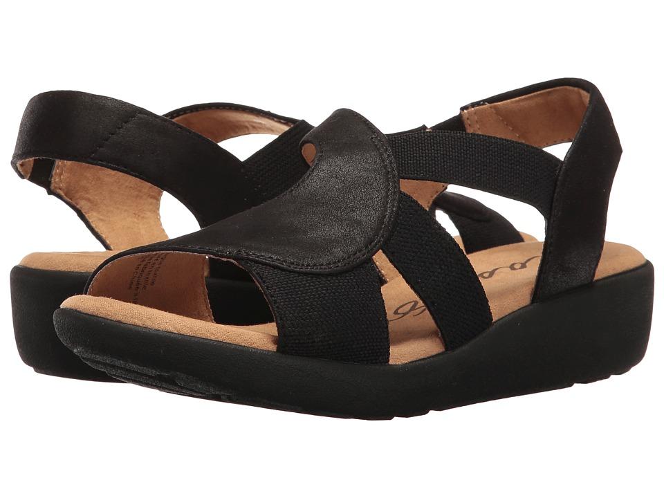 Easy Spirit - Kalayla (Black/Black Fabric) Women's Shoes