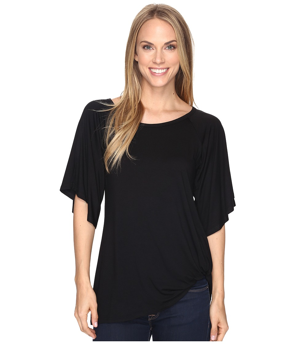 Karen Kane - Split-Sleeve Pick Up Top (Black) Women's Clothing