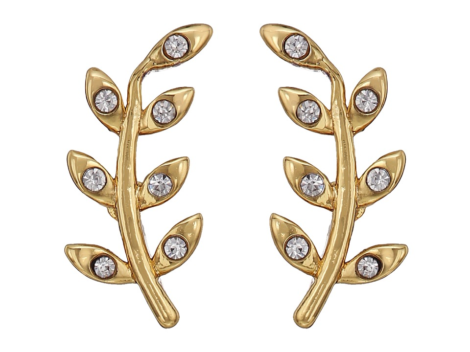 Rebecca Minkoff - Olive Branch Climber Stud Earrings (Gold) Earring