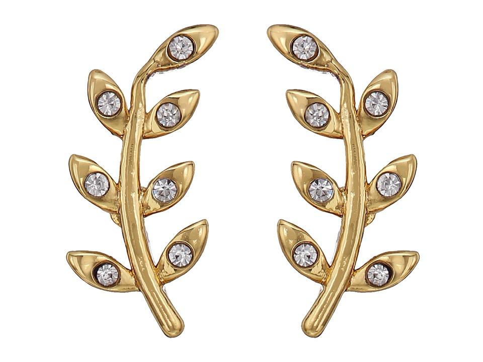 Rebecca Minkoff - Olive Branch Climber Stud Earrings (Gold) Earring