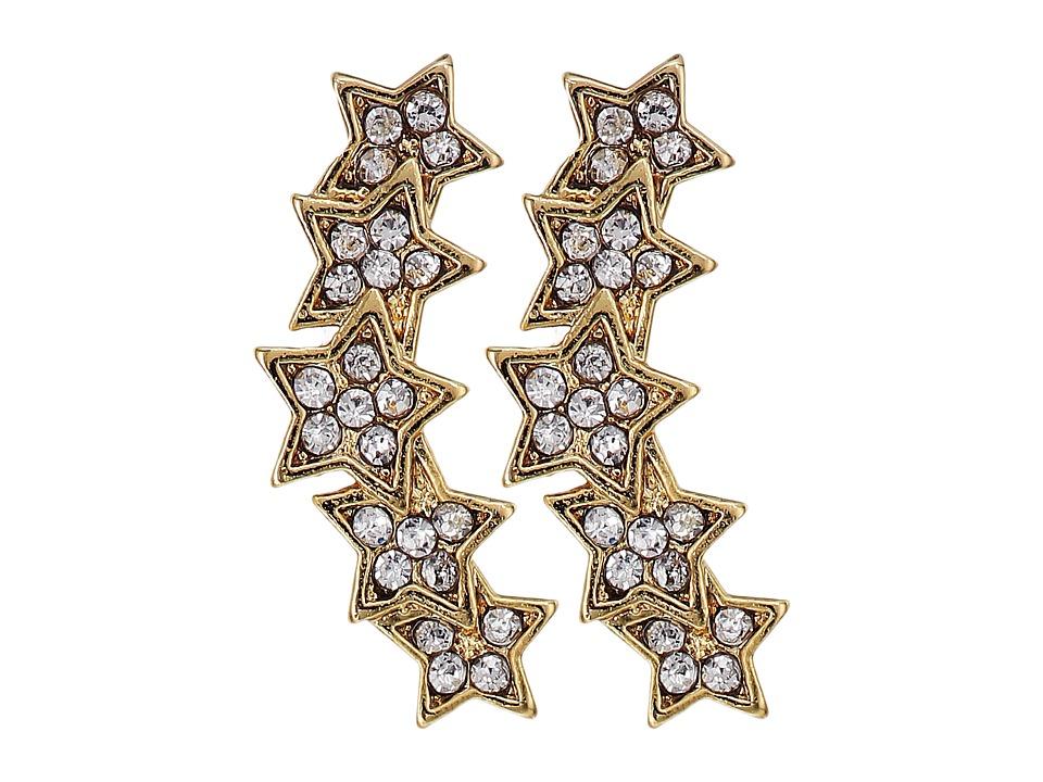 Rebecca Minkoff - Starry Night Climber Stud Earrings (Gold) Earring