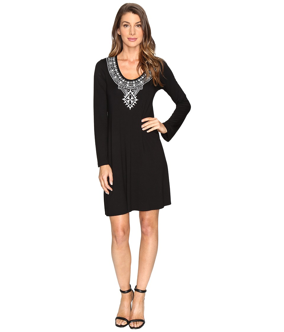 Karen Kane Embroidered Taylor Dress (Black) Women