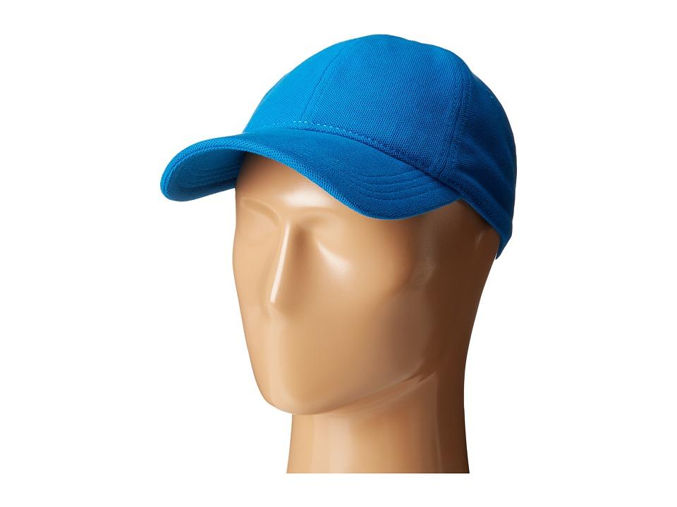 Lacoste - Cotton Pique Cap (Sapphire Blue) Caps