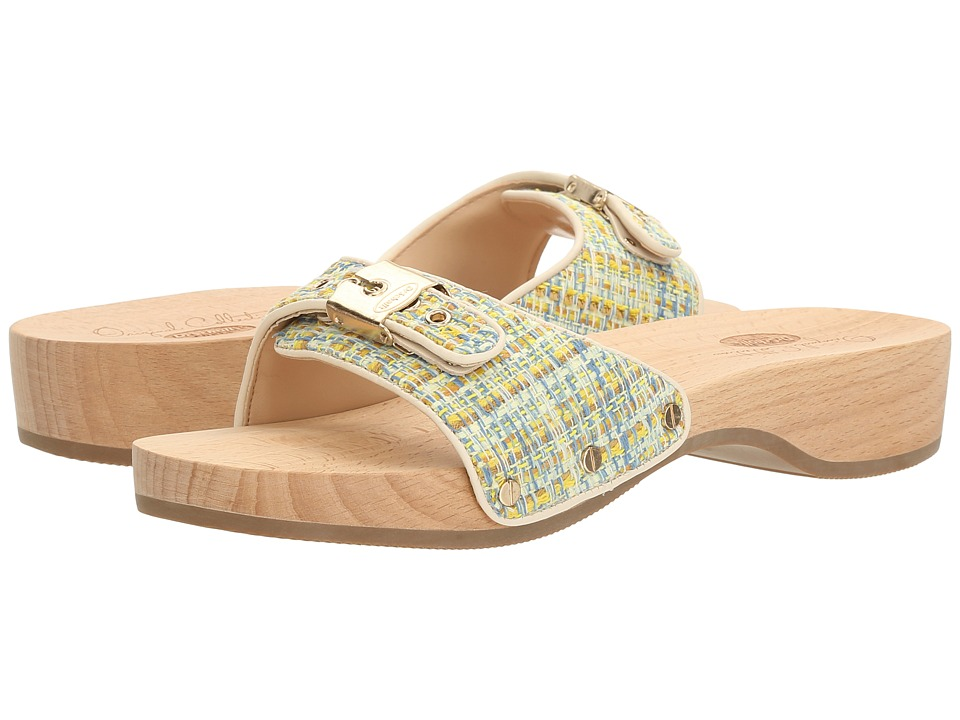 Dr. Scholl's - Original - Original Collection (Yellow Multi/Ivory Tweed) Women's Slide Shoes