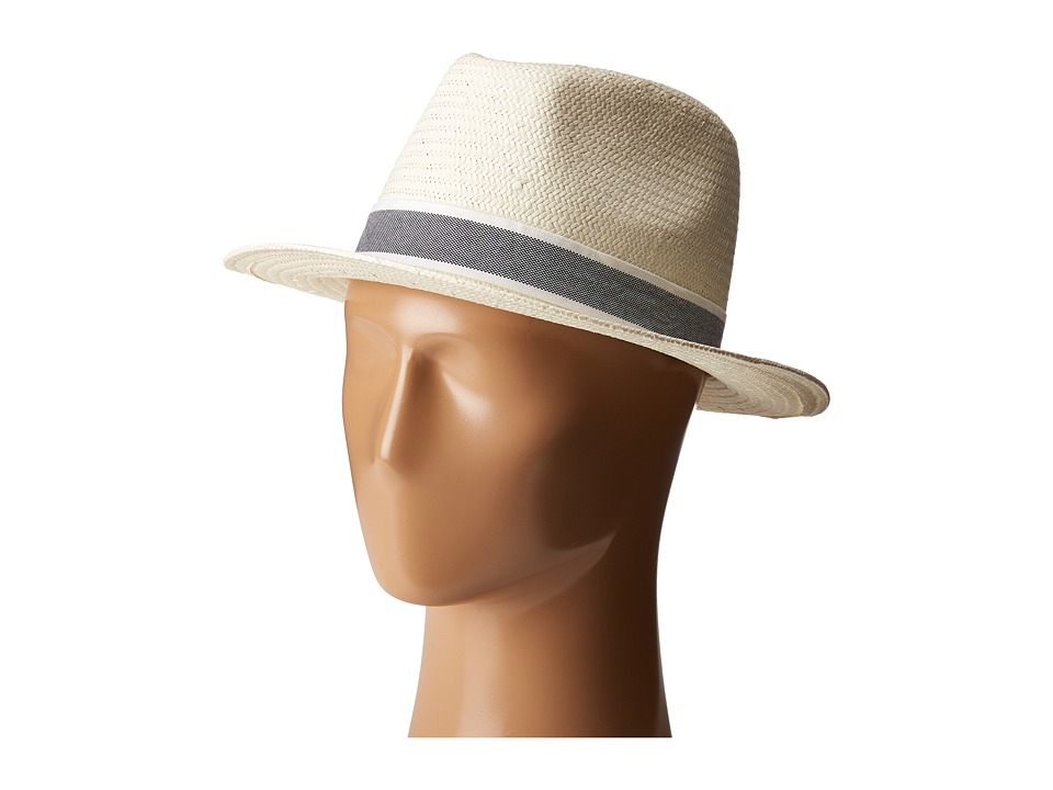 Lacoste - Woven Straw Hat (Flour/Silver Chine) Caps