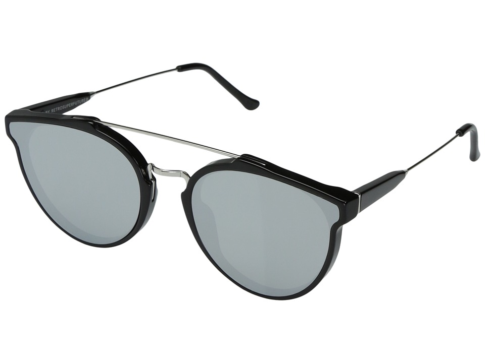 Super - Giaguaro Forma 58mm (Black/Silver) Fashion Sunglasses