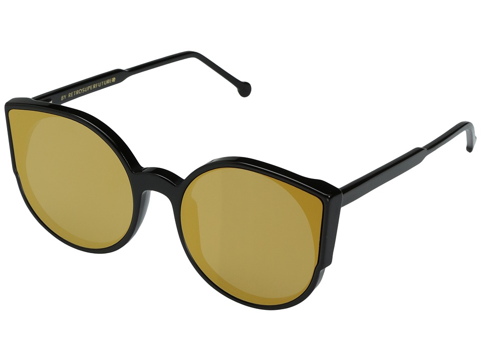 Super - Lucia 54mm (Black/Gold) Fashion Sunglasses