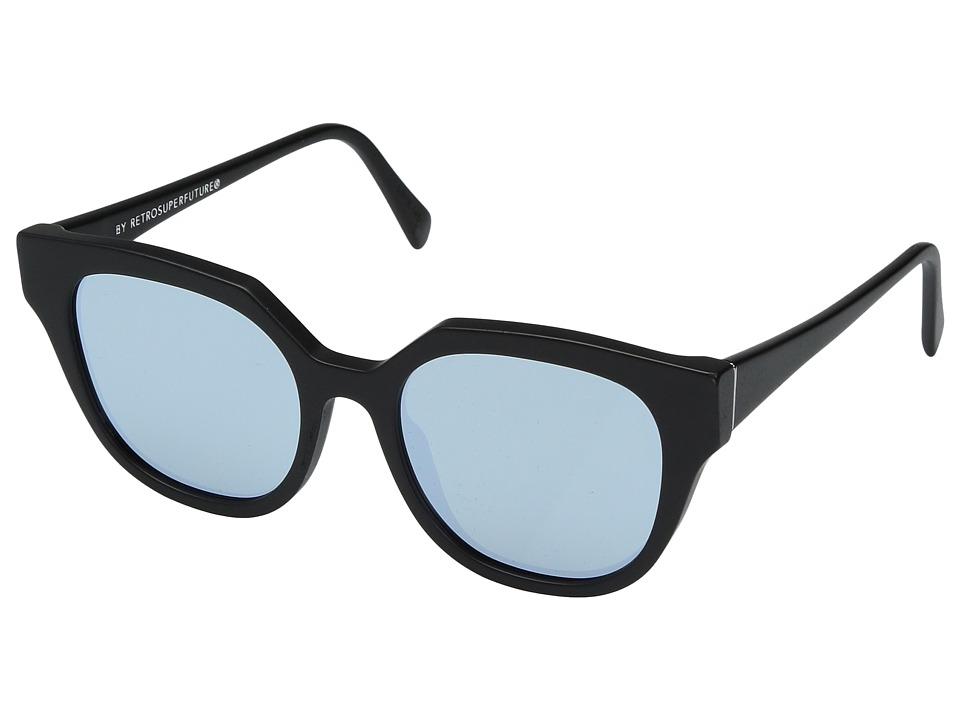 Super - Zizza 53mm (Matte Black/Silver) Fashion Sunglasses