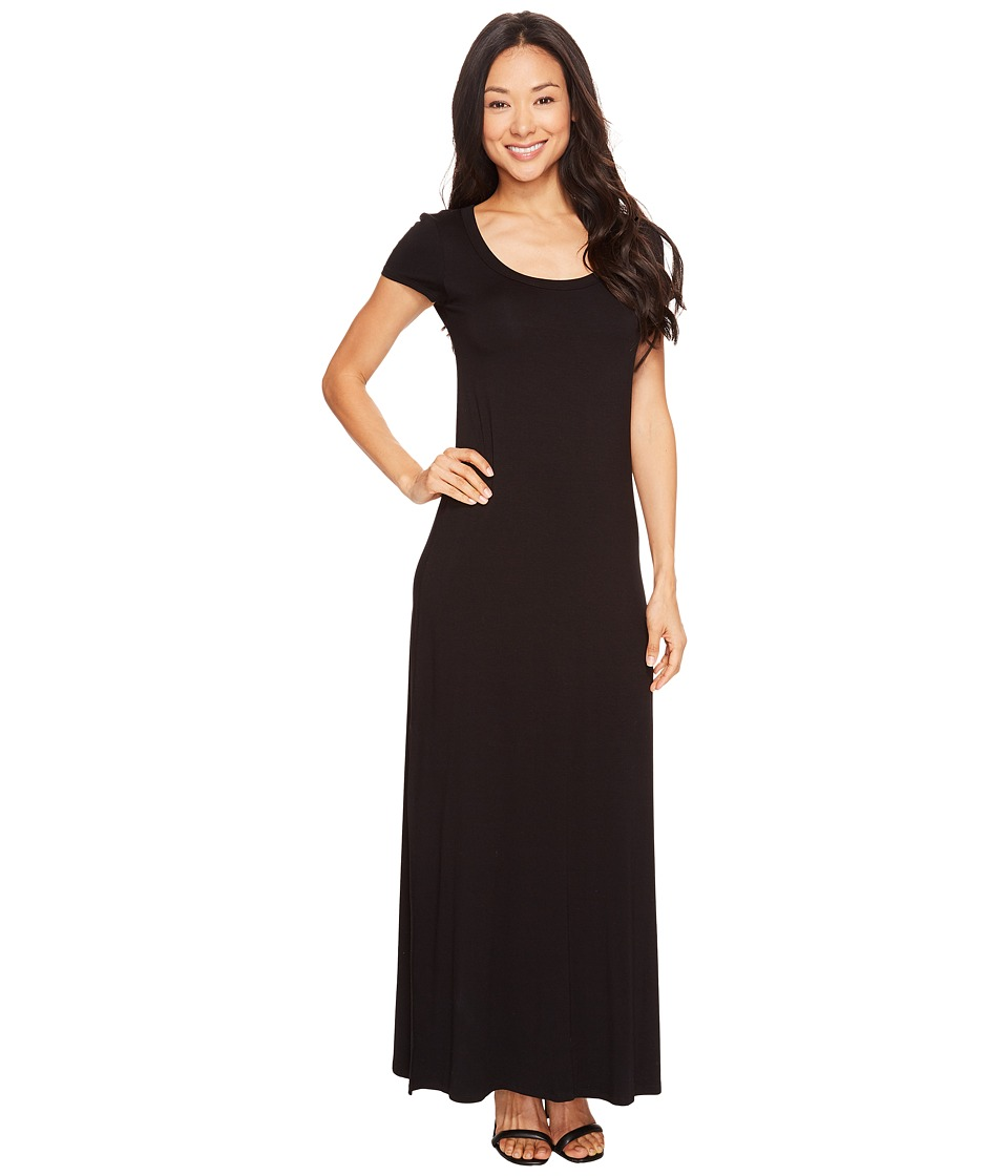 Karen Kane - Cap Sleeve Maxi Dress (Black) Women's Dress
