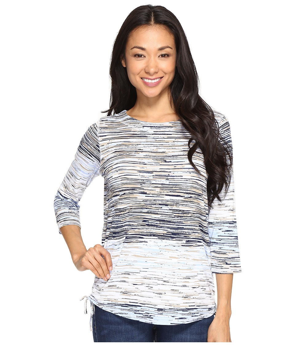 FDJ French Dressing Jeans - Horizon Stripe Top (Sky) Women's Long Sleeve Pullover