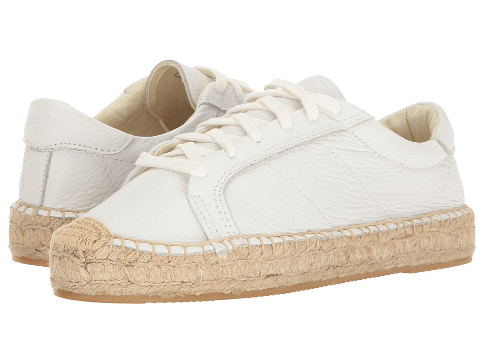 Soludos Platform Tennis Sneaker (White Leather) Women