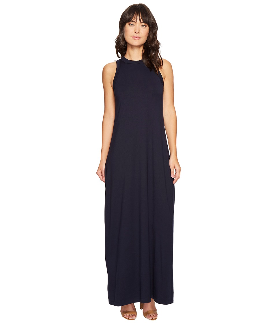 Karen Kane - High Neck Maxi (Navy) Women's Dress